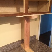 One of the dead leg supports we built.