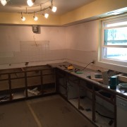 More progress  on west side of kitchen.