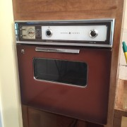 "Ah the old ""Coppertone"" GE oven.  I will actually miss you...  And the radiant heat."