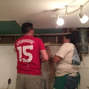 Daniel Sturridge, I mean Robbie and Vicky on Team Drywall.