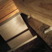 The new joist Jose put in.  Isn't it clean and pretty?