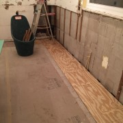 After a lot of pulling out and cleaning up, we have a  new subfloor.