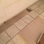 And we set the tile down together.