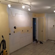 More getting ready for cabinets